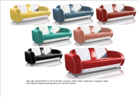 Great Bel Air Sofa Model SF 02 CB G63