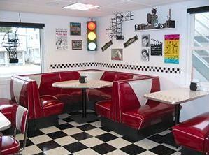 Retro meubelen fifties sixties diner meubels bel air eethoek tafels horeca groothandel jukebox - Stoelen rock en bobois ...
