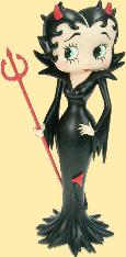 betty boop devil in black