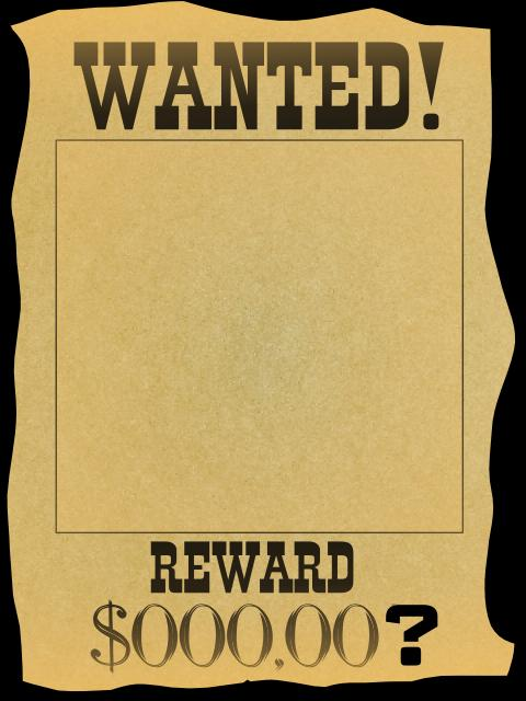 word 2013 wanted poster