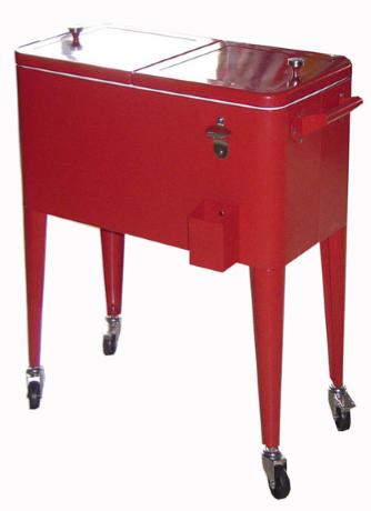 06 retrocooler model Montana inhoud 55L kleur rood