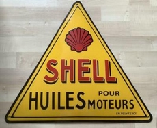 emaille reclame bord shell