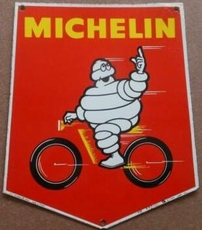 emaille reclamebord michelin red