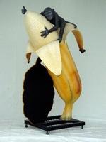 decoratie beeld banaan met aap model 1437