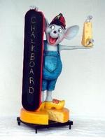 decoratie figuur muis en kaas model 1612