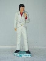 Elvis als zanger in wit pak model 257