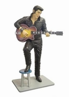 Elvis in leer lifesize model ST6624