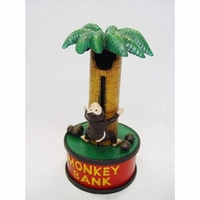 gietijzeren spaarpot model monkey bank