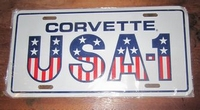 funny license plate chevrolet corvette usa -1