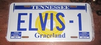 funny license plate tennessee graceland elvis