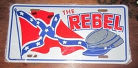 funny license plate the rebel