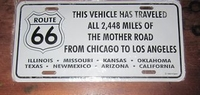 funny license plate the mother road