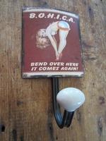 retro fifties pinup kapstok model b.o.h.i.c.a.