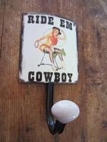 retro fifties pinup kapstok model cowboy