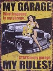 06 metal plate 272 my garage my rules