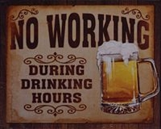 11 metal plate 318 no working during drinking hours