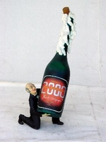10 champagne bottle butler model 1409