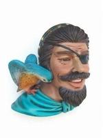 11 piraten hoofd met vogel model 2343
