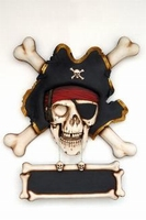 33 pirate with bones wanddecoratie model ew
