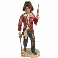 45 piraten skelet met pistool model st-9728
