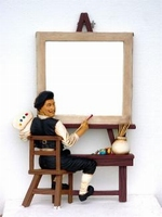 08 schilder met spiegel model 1969