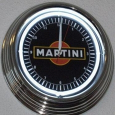 27 neon clock uhr klok model Martini