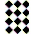 fifties style zwart wit neon folie xxl