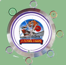 04 neonklok model flying tigers