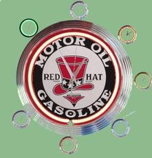 08 neonklok model red hat