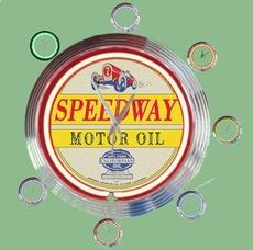 10 neonklok model speedway motor oil