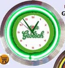 02 neonklok model grolsch groen