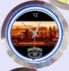 14 neonklok model jack daniels truck