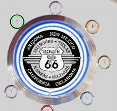 06 neonklok model route 66 -2