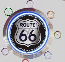 07  neonklok model route 66 -1
