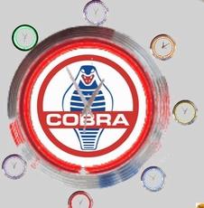 10 neonklok model cobra