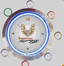 14 neonklok pontiac logo