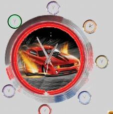 neonklok model funny car