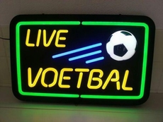 live voetbal neonlook led bord