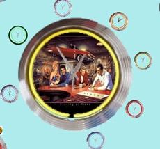 10 neonklok model rick's diner