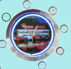 11 neonklok model rosies diner
