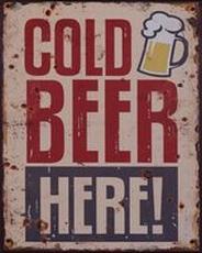 20 metal plate 371 cold beer here