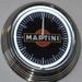 27 neon clock uhr klok model Martini