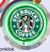 10 neonklok model starbucks coffee