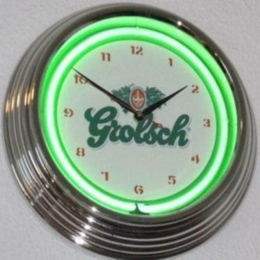 Verrassend neonklokken neonclocks neonuhren neon klokken uhren clocks klok RP-81